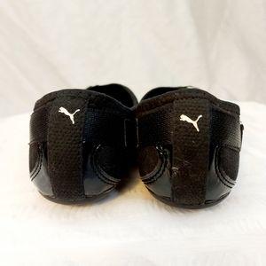 Puma Shoes - Black Patent leather sporty flat slip on  size 7